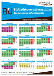 Horaires BUST 2016-2017